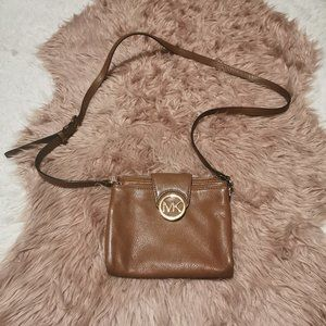 Michael Kors Brown Leather Crossbody Bag